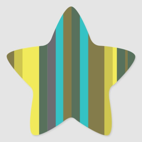 Green_stripes Star Sticker