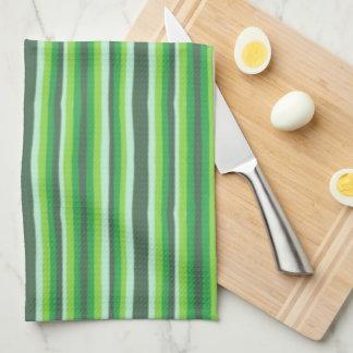 Green Stripes Tea Towel