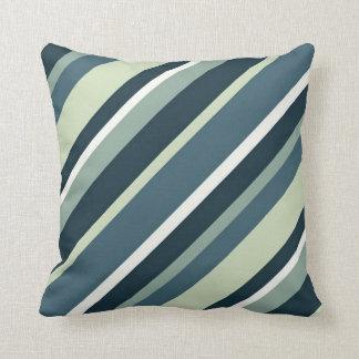 """Green Stripes Throw Pillow 16"""" x 16"""" Cushion"""