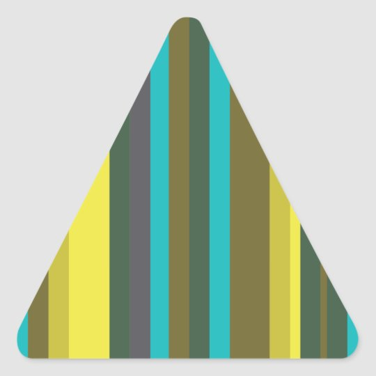 Green_stripes Triangle Sticker