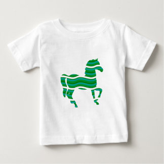 Green stripped Thoroughbred Baby T-Shirt