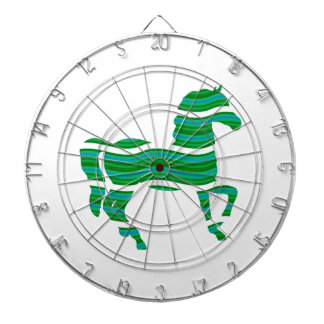 Green stripped Thoroughbred Dartboards