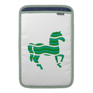 Green stripped Thoroughbred MacBook Sleeves