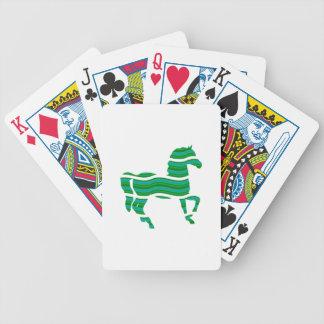 Green stripped Thoroughbred Poker Deck