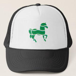 Green stripped Thoroughbred Trucker Hat