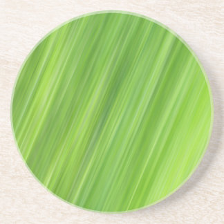 Green strips pattern coaster
