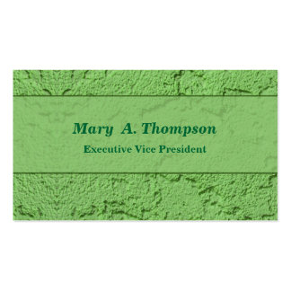 Green Stucco Texture Pack Of Standard Business Cards