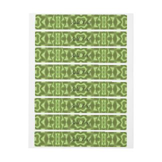 Green stylish abstract pattern wraparound address label