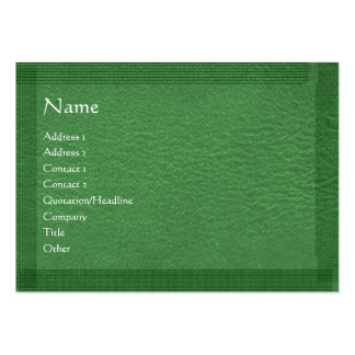 Green Stylish Border n Surface Pack Of Chubby Business Cards