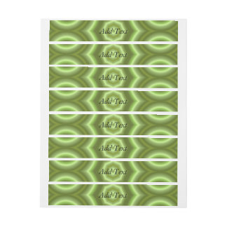 Green Stylish pattern Wraparound Address Label