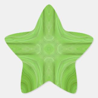 Green stylish wood pattern star stickers