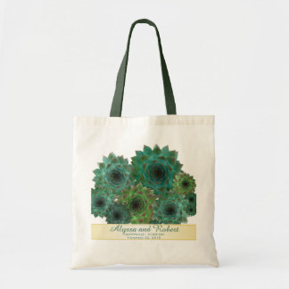 Green Succulents Wedding Welcome Bags