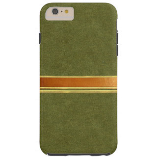 Green Suede Copper and Gold Banded iPhone 6 Case Tough iPhone 6 Plus Case