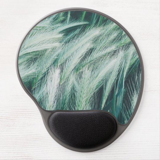 Green summer grass gel mouse pad