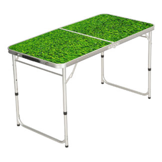 Green Summer Grass Texture Beer Pong Table
