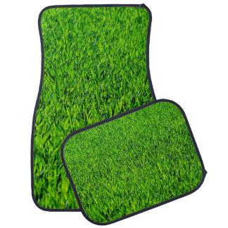 Green Summer Grass Texture Car Mat