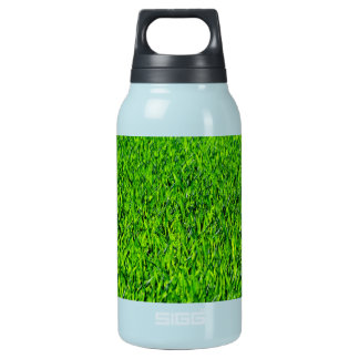 Green Summer Grass Texture Insulated Water Bottle