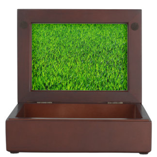 Green Summer Grass Texture Keepsake Box
