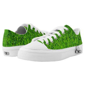 Green Summer Grass Texture Low Tops