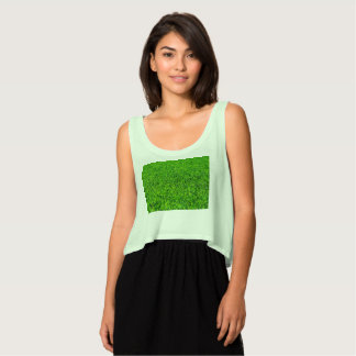 Green Summer Grass Texture Singlet