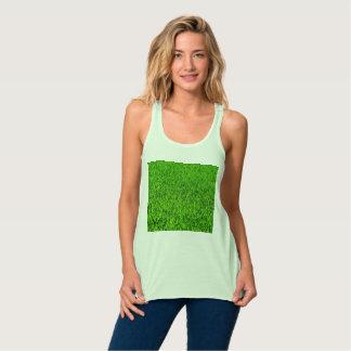 Green Summer Grass Texture Singlet