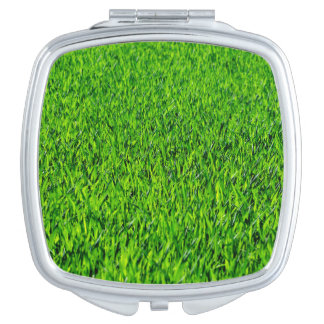 Green Summer Grass Texture Travel Mirrors
