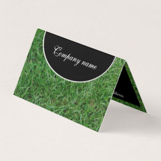 Green summer grass, yard, lawn 099 photo business card