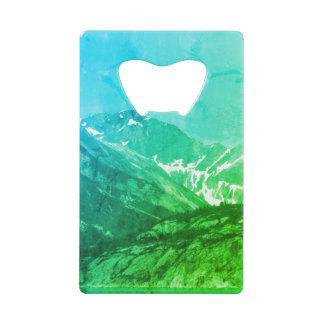 Green Summer Mountains Bottle Opener