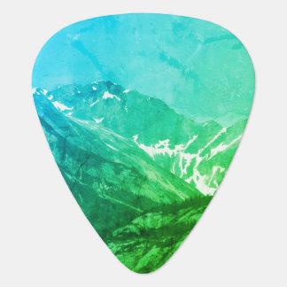 Green Summer Mountains Guitar Pick