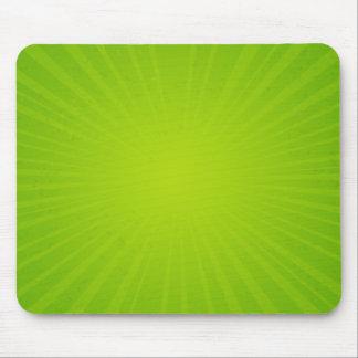Green Sunburst Mouse Pad