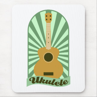 Green Sunburst Ukulele Mouse Pad