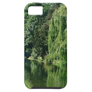 Green sunny spring day green trees river walk case for the iPhone 5