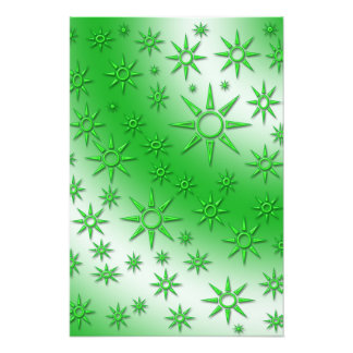 Green suns seamless pattern photograph