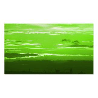 Green Sunset Business Cards