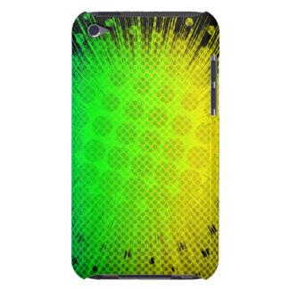 Green Super Hero Sunburst iPod Touch Cases