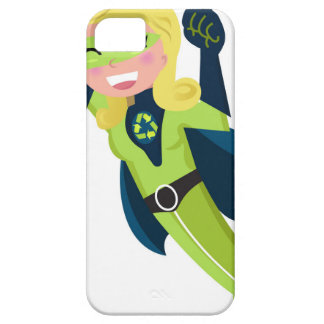 Green superhero girl iPhone 5 covers