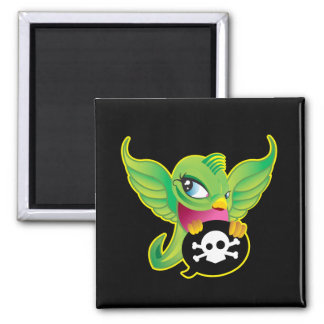 Green Swallow Square Magnet