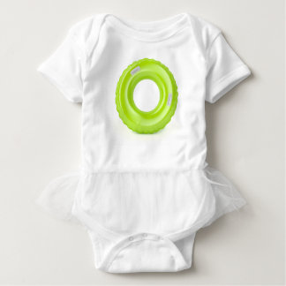 Green swim ring baby bodysuit