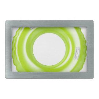 Green swim ring belt buckle