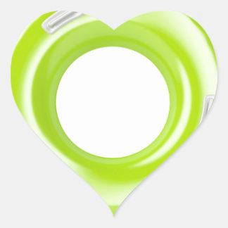 Green swim ring heart sticker