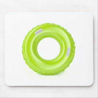 Green swim ring mouse pad