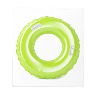 Green swim ring notepad