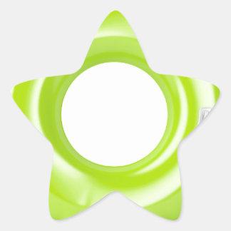 Green swim ring star sticker