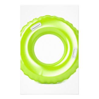 Green swim ring stationery