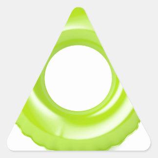 Green swim ring triangle sticker