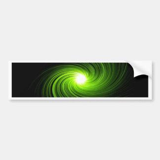 Green swirl abstract. bumper sticker