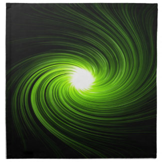 Green swirl abstract. napkin