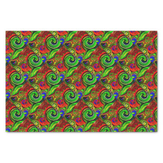Green Swirl Abstract Print Tissue Paper