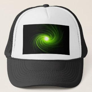 Green swirl abstract. trucker hat