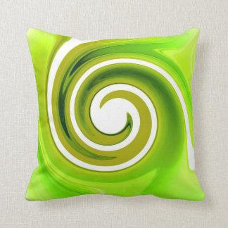 Green Swirl American MoJo Pillows Cushions